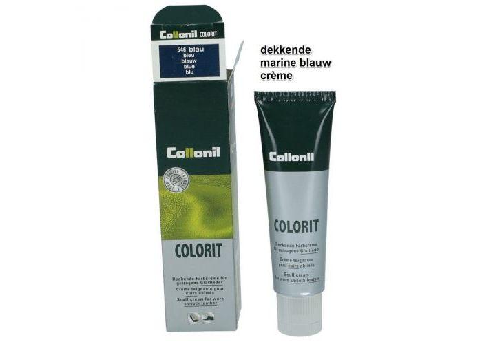 Collonil colorit 50ml tube kleur/glans blauw donker