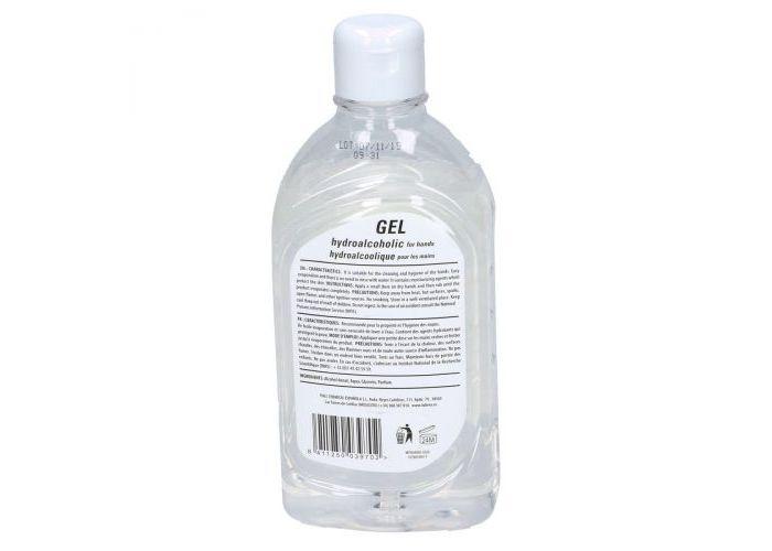 Lubrex GEL hydroalcoholic for hands 500ml handgel transparant