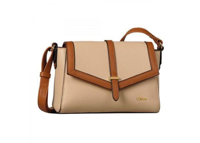 Mode accessoires Gabor Bags KUNSTLEDER 8434-23 MADURA flapbag Beige