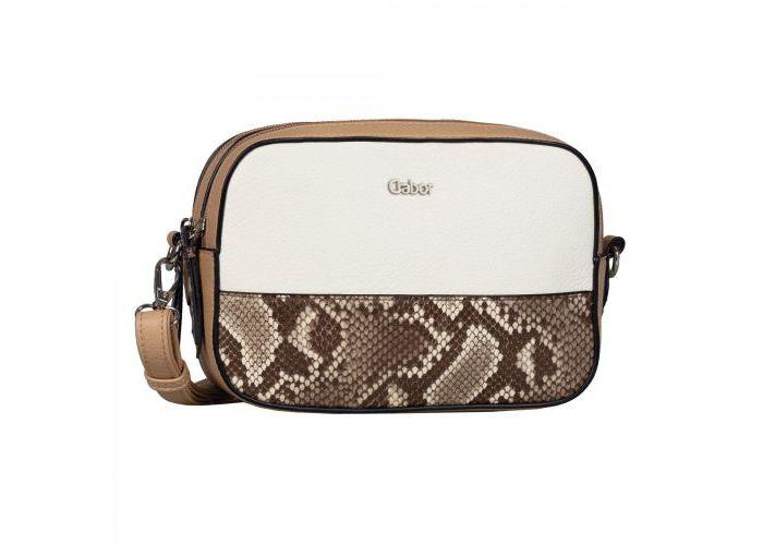 Mode accessoires Gabor Bags KUNSTLEDER 8459-132 ANDEA crossbag Wit