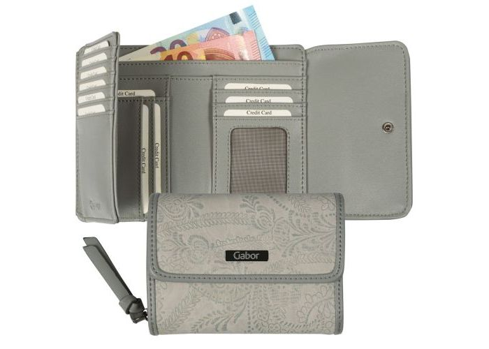 Gabor Bags 8110-72 GRANADA PAISLEY WALLET portefeuilles grijs