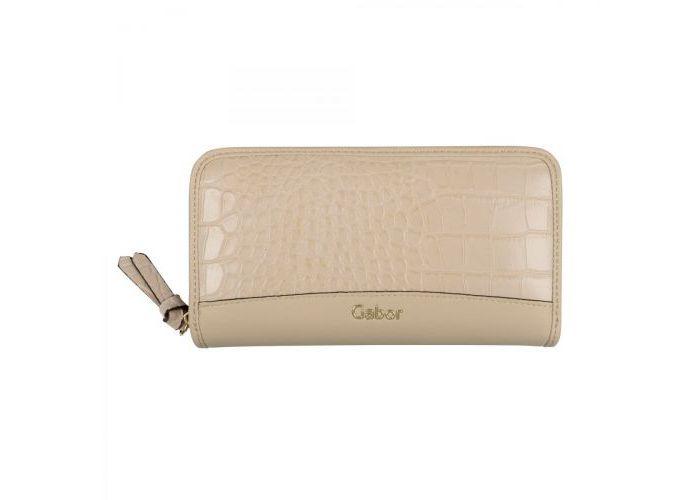 Mode accessoires Gabor Bags PORTEMONNEES 8557-211 JANNE WALLET CROCO Beige