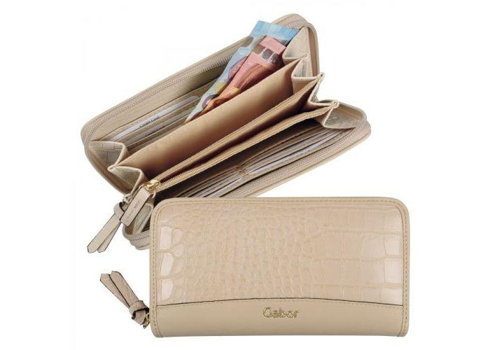 Gabor Bags 8557-211 JANNE WALLET CROCO portemonnees beige