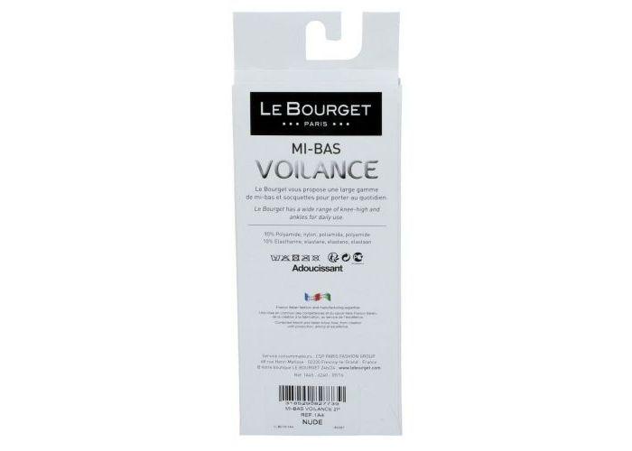Le Bourget 1A46 MI-BAS Voilance Satiné 15D kniekousen transparant