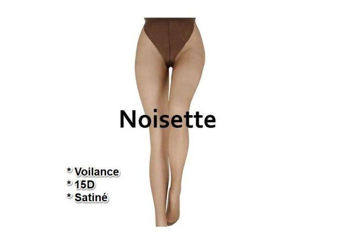 Mode accessoires Le Bourget PANTYS /COLLANTS 1BA Voilance Satiné 15D Bruin