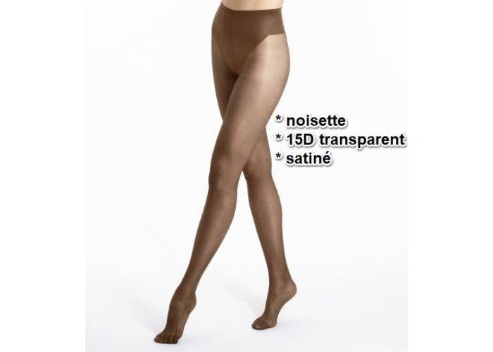 Mode accessoires Le Bourget PANTYS /COLLANTS 1KJ1 Collant 15D Transparent Satiné Bruin