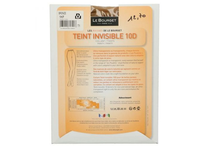 Le Bourget 1KF Teint Invisible 10D pantys /collants transparant