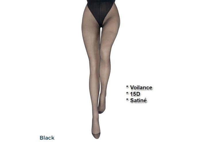 Mode accessoires Le Bourget PANTYS /COLLANTS 1BA Voilance Satiné 15D Zwart