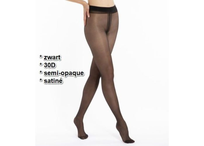 Le Bourget PANTYS /COLLANTS 1NH1 SEMI-OPAQUE SATINÉ 30D Zwart