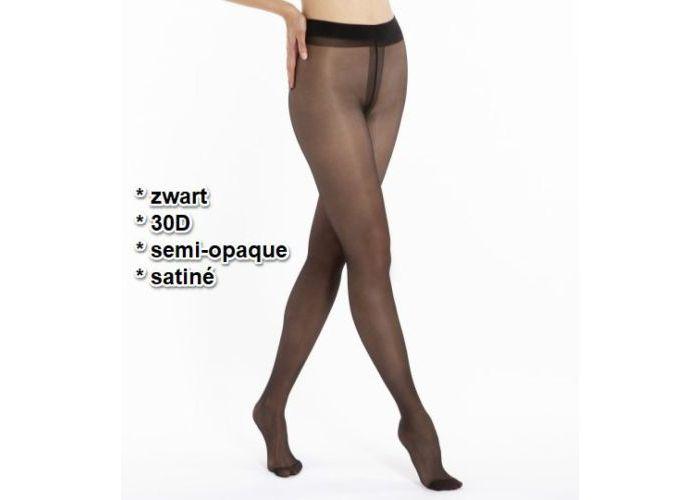 Mode accessoires Le Bourget PANTYS /COLLANTS 1NH1 SEMI-OPAQUE SATINÉ 30D Zwart