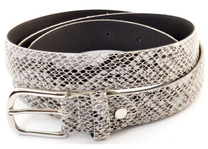 Mode accessoires Miss Muller DAMESCEINTUREN Riem Miss Python Off-white/ecru/parel