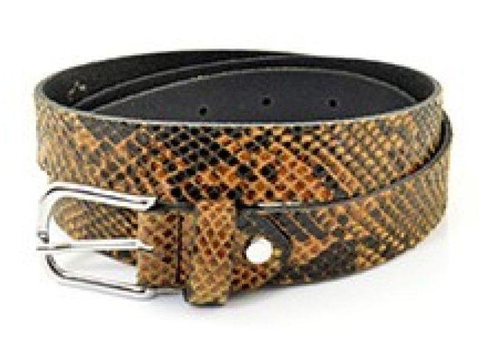 Mode accessoires Miss Muller  RIEM MISS PYTHON 95 CM Dierprint