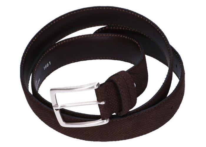 Mode accessoires Muller And Sons  RIEM Suède Snake 95 cm Bruin Donker