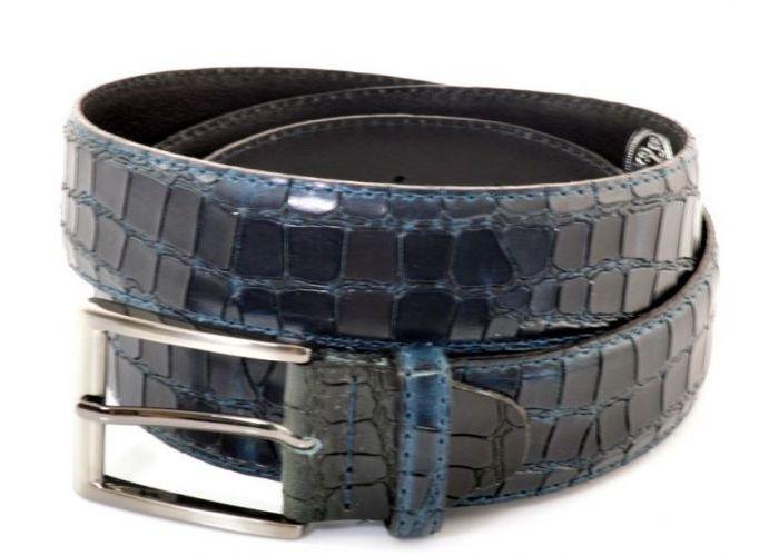 Mode accessoires Muller And Sons HERENCEINTUREN Riem Reptile Blauw Donker