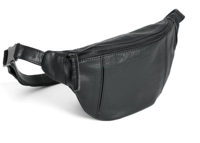 Mode accessoires Sticks And Stones LEDER TORONTO BELT BAG Zwart