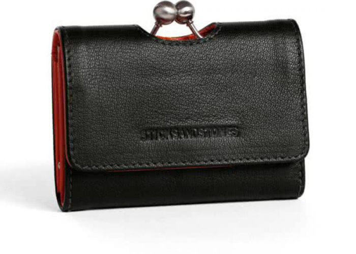 Sticks And Stones  BIARRITZ WALLET Zwart