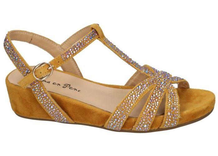 Alma En Pena V20814 sandalen geel mosterd