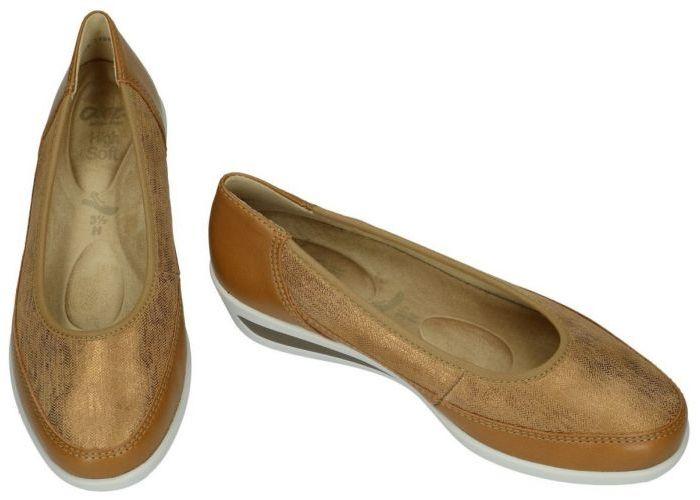 Ara 12-40617 77(H) ballerina's & mocassins cognac/caramel