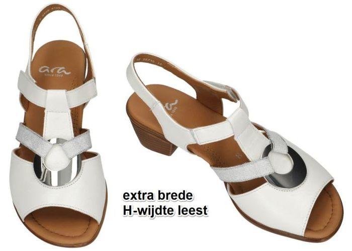 Ara 12 35715-12 H perlacalf sandalen wit