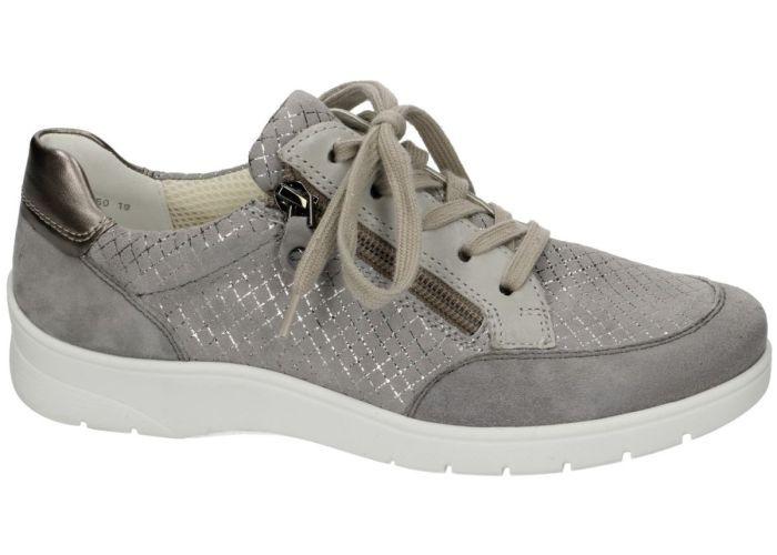 Ara 12 41050-19 H samtchevro/squarek rauch sneakers  grijs