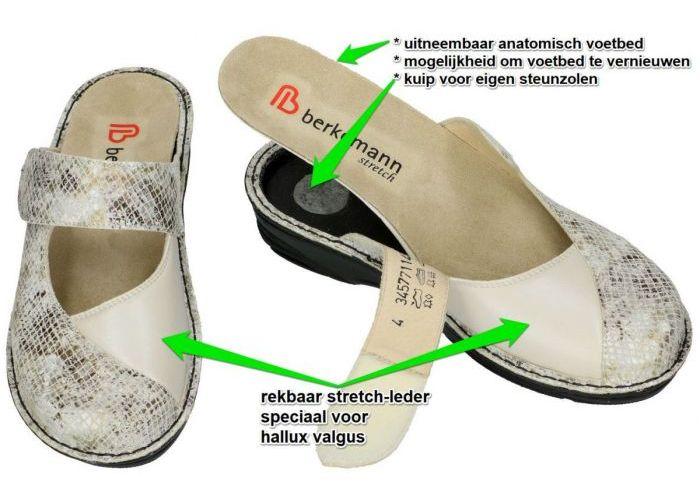 Berkemann 03457-711 HELIANE pantoffels off-white/ecru/parel