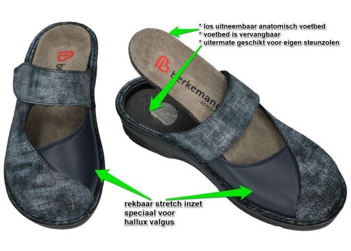 Berkemann 03457-329 HELIANE  pantoffels blauw
