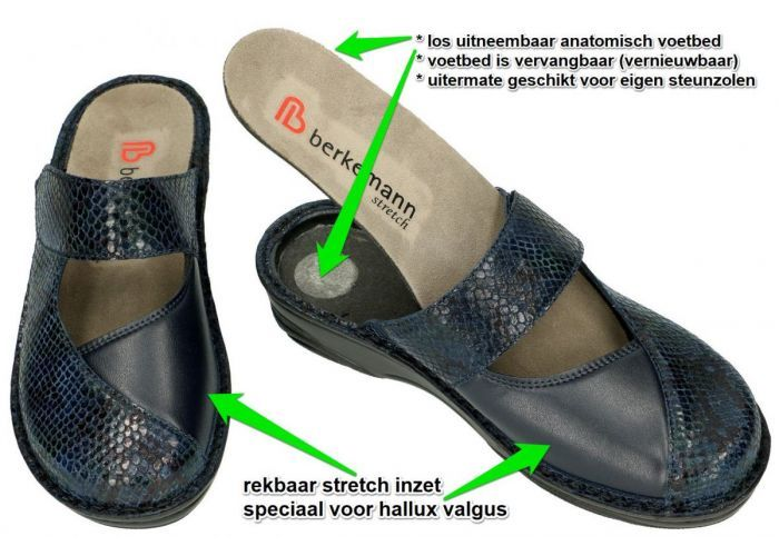 Berkemann 03457  HELIANE (G) pantoffels blauw donker