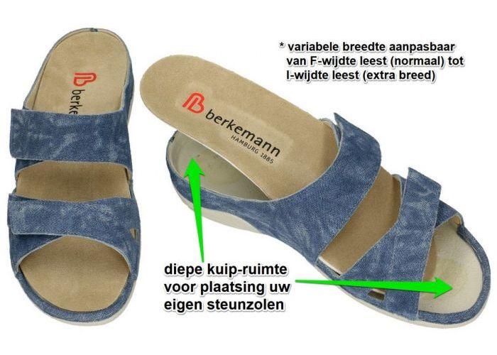 Berkemann 01604-309 SANDY slippers & muiltjes blauw