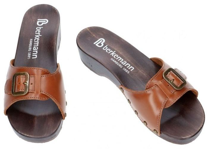 Berkemann 00110-416 HAMBURG slippers & muiltjes cognac/caramel