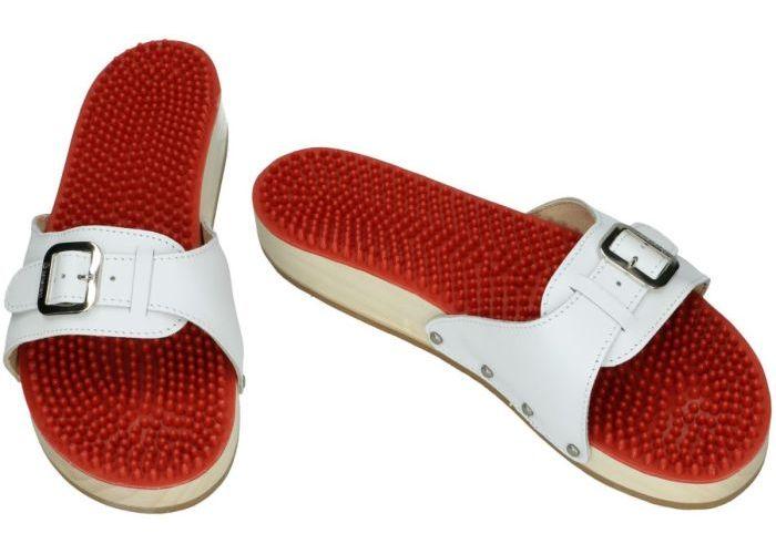Berkemann 00107-100 Noppen-Sandale slippers & muiltjes wit
