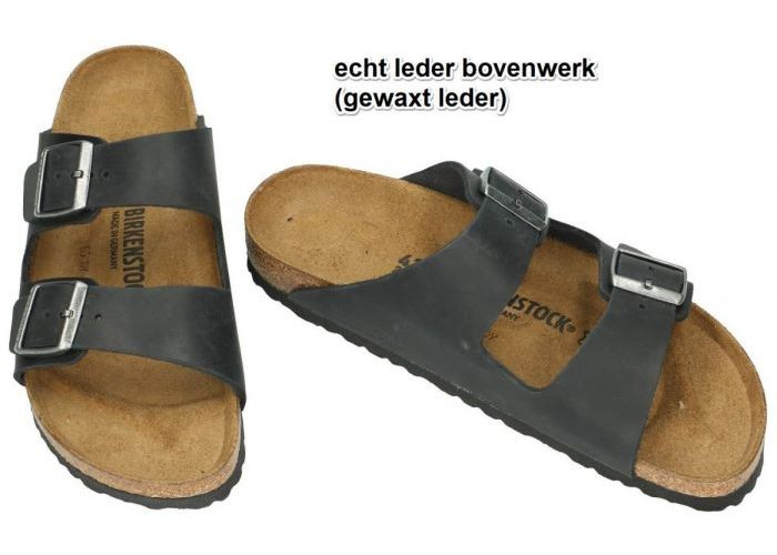 Birkenstock 0552113 ARIZONA BS pantoffels & slippers zwart