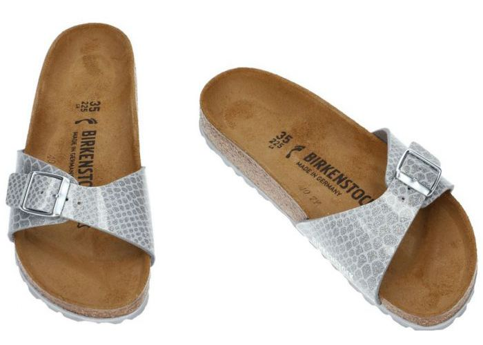 Birkenstock 1009100 MADRID slippers & muiltjes zilver