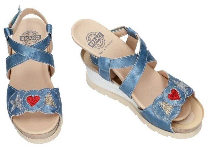 Brako 6039 sandalen blauw