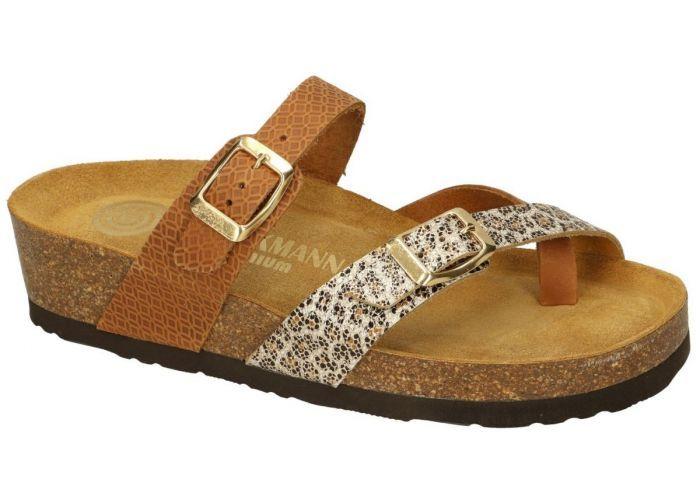 Dr Brinkmann 0468-130. slippers & muiltjes cognac/caramel