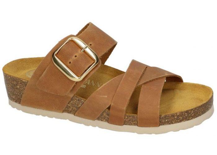 Dr Brinkmann 2012/379 slippers & muiltjes cognac/caramel