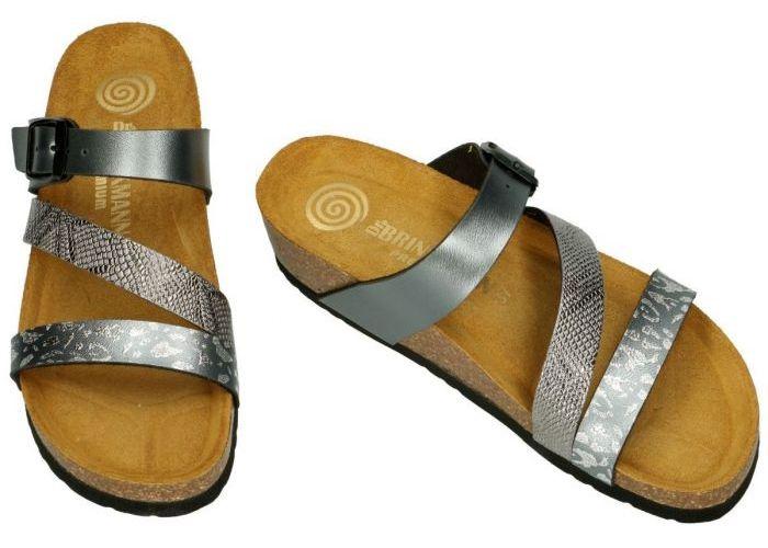 Dr Brinkmann 1533/AN/379  slippers & muiltjes grijs
