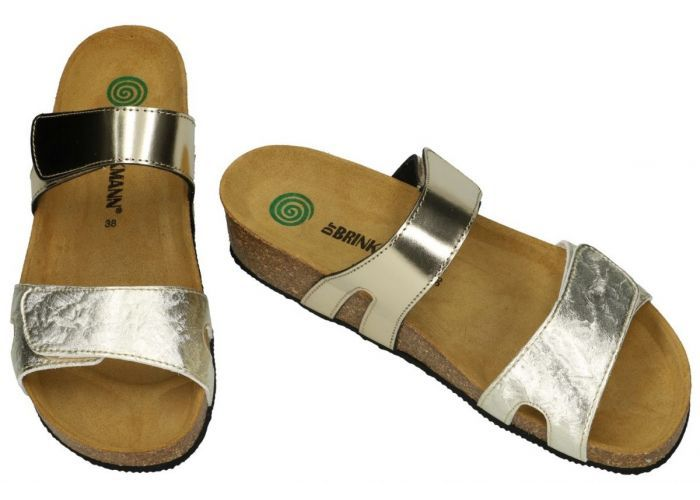 Dr Brinkmann BKM5E258GO slippers & muiltjes goud