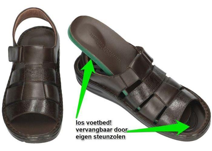 Fbaldassarri B-1964 sandalen bruin donker