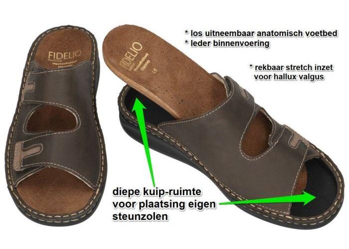 Fidelio Hallux 366031 HALLUX HANNO H½ pantoffels & slippers bruin donker