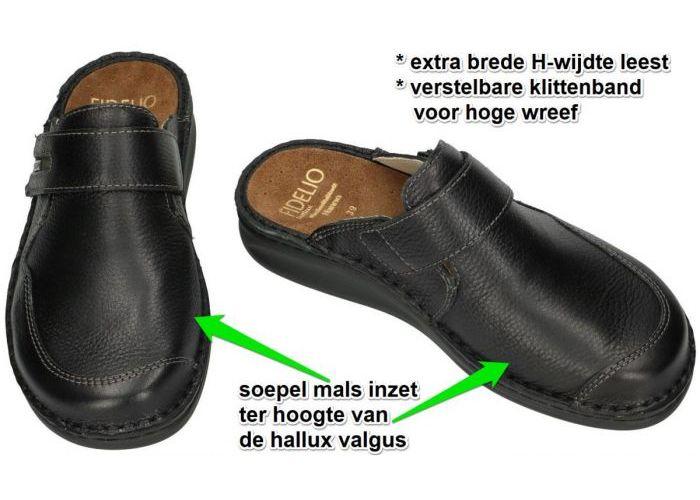 Fidelio Hallux 366030 HALLUX HANNO H½ pantoffels & slippers zwart