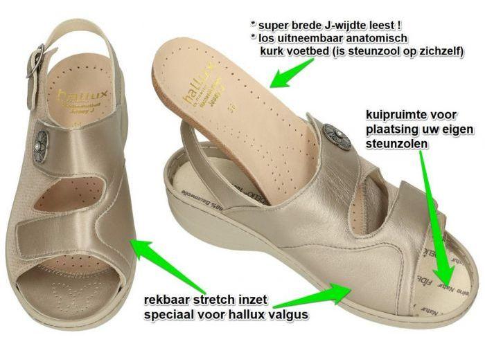 Fidelio Hallux 456004 Hallux Jessy J sandalen beige
