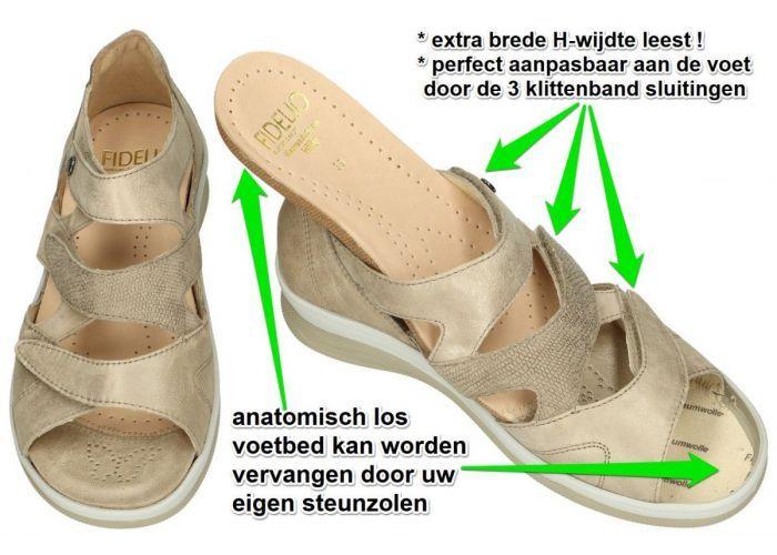 Fidelio Hallux 496006 Fidelio Hilly H sandalen beige