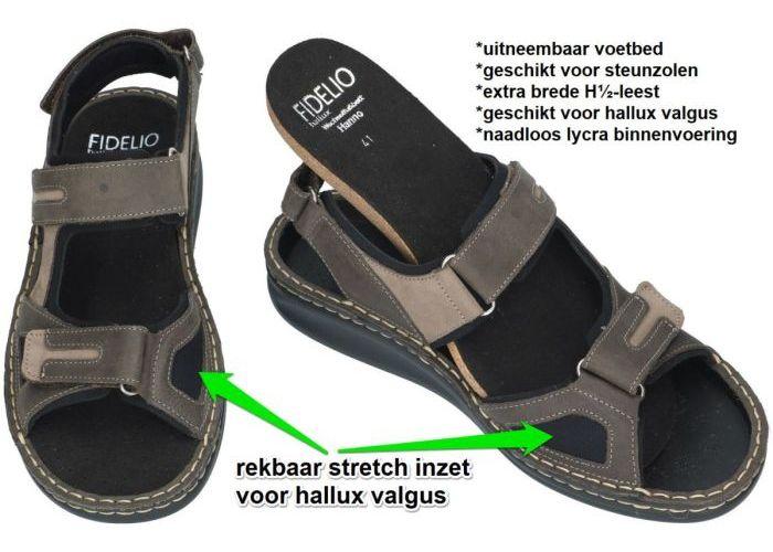 Fidelio Hallux 366028 hallux HANNO (H½) sandalen bruin