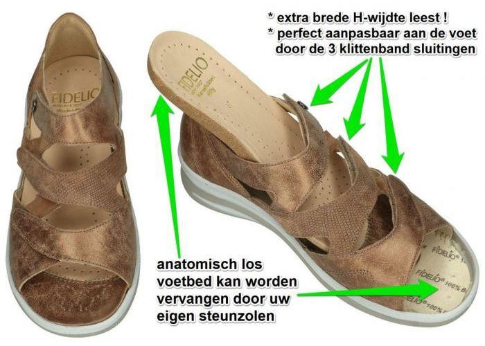 Fidelio Hallux 496006 FIDELIO HILLY H sandalen bruin