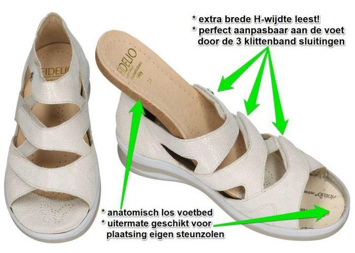 Fidelio Hallux 496006 Fidelio HILLY (H) sandalen off-white/ecru/parel