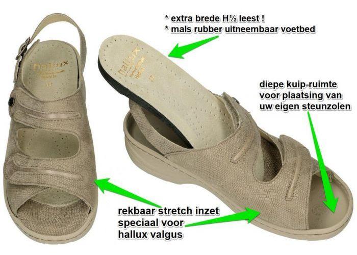Fidelio Hallux 236024 Hallux HEDI H sandalen taupe
