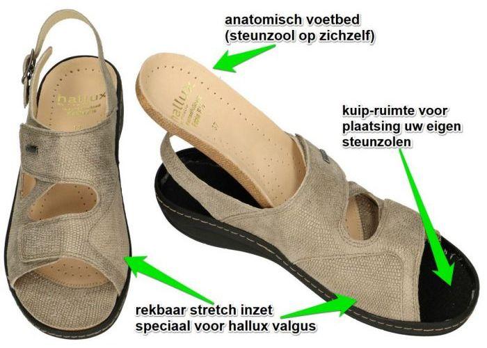 Fidelio Hallux 434114 HALLUX FABIA F½ sandalen taupe