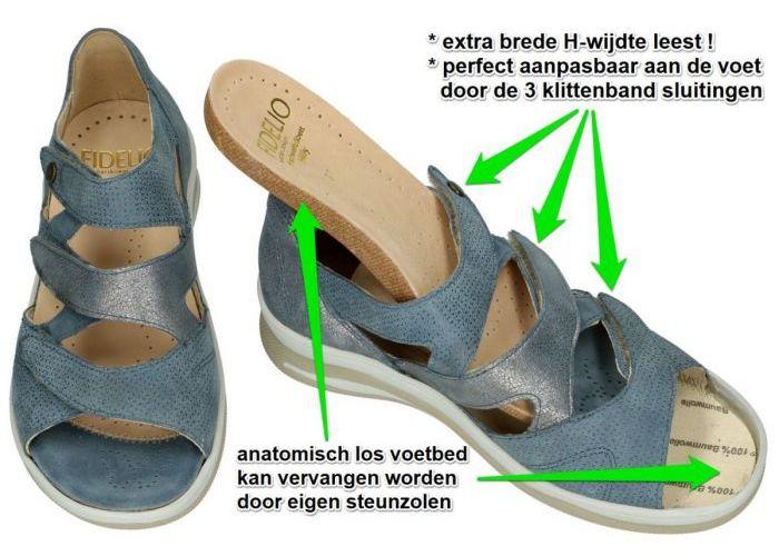 Fidelio Hallux 496006 FIDELIO HILLY H sandalen turquoise