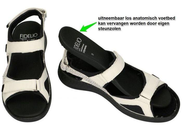 Fidelio Hallux 536007 HALLUX HI DYNAMIC H sandalen wit