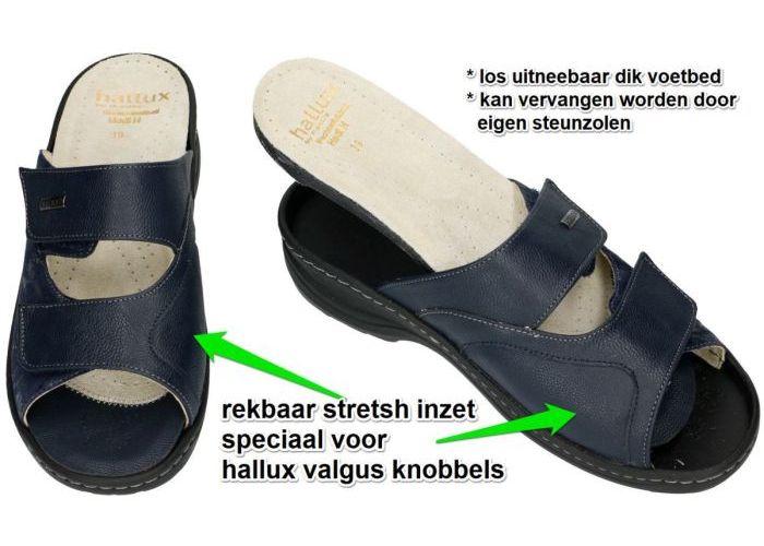Fidelio Hallux 33702 HEDI (H½) slippers & muiltjes blauw donker